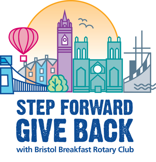 step forward and give back with rotary