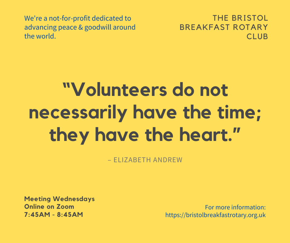 volunteer with our rotary club